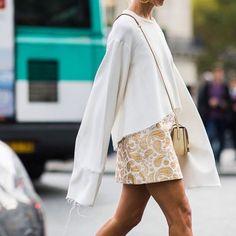 Flowy White Top & Printed Skirt