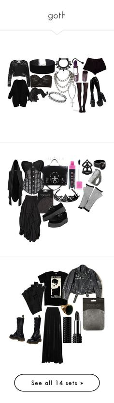 """""""goth"""" by rigormortisii ❤ liked on Polyvore featuring makeup, pictures, eyes, images, photo, Miss Selfridge, Manic Panic NYC, Topshop, Monki and Urban Outfitters"""