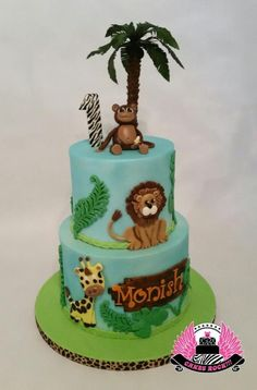 Jungle First Birthday by Cakes ROCK!!!
