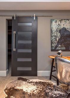 Six Slot Modern Sliding Barn Door