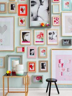 decorando paredes da sala