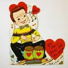 Image result for vintage valentine marching boy and girl