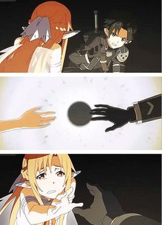 Discovered by Asuna Yuuki. Find images and videos about sword art online, asuna and how on We Heart It - the app to get lost in what you love. Sao Anime, Anime Manga, Arte Online, Online Art, Kirito Asuna, Accel World, Sword Art Online Kirito, Seven Deadly Sins Anime, Anime Kawaii