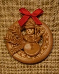 kruh-snehulak Salt Dough, Cold Porcelain, Gingerbread Cookies, Ornaments, Christmas, Czech Republic, Advent, Hampers, Artists