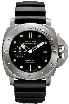 Panerai [NEW] LUMINOR SUBMERSIBLE 1950 3 DAYS PAM 305 TITANIO 47mm (Retail:HK$70,700) ~ SPECIAL OFFER: HK$53,500.