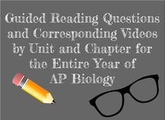 biology activities Biology by the Math Mom: Guided Reading Questions and Videos for AP Biology. Ap Biology, High School Biology, Biology Lessons, High School Science, Science Lessons, Science Experiments, Science Fun, Science Resources, Classroom Resources