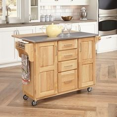 Shop for Natural Breakfast Bar Kitchen Cart by Home Styles. Get free shipping at Overstock.com - Your Online Kitchen