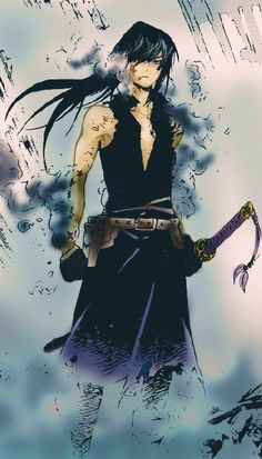 Kaito, he was a great samuri but fell from grace and is now a ronin. He has past ties to the grays and is the oldest on the team. He his quiet and reserved. But he sees everything.
