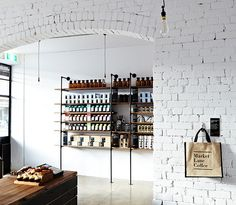 market lane coffee via the pursuit aesthetic-like this for some retail shelving in my place