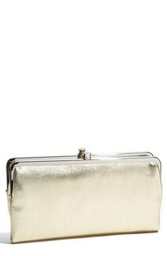 hobo holiday metallic clutch wallet double framemetallic - Double Frame Clutch Wallet