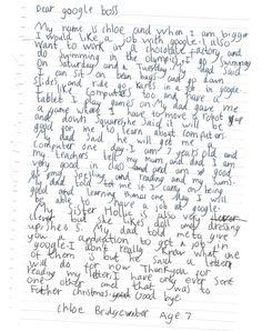 chloe bridgewater google letter