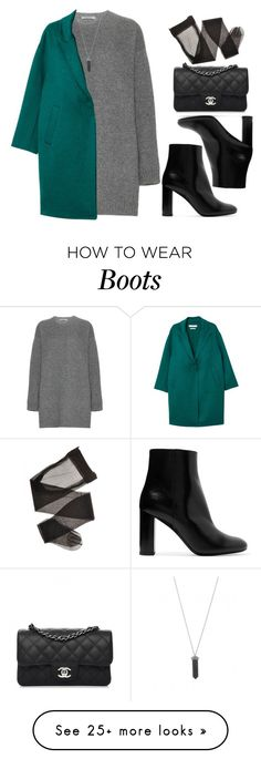"""Sin título #14405"" by vany-alvarado on Polyvore featuring Valentino, MANGO, Yves Saint Laurent, Karen Kane and Chanel"