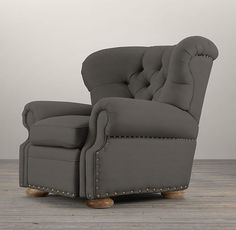 Churchill Upholstered Recliner | Chairs | Restoration Hardware