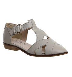 Buy Grey Leather Office Kamper Flat Weave Shoe from OFFICE.co.uk.