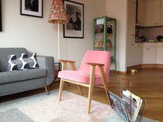 366 concept chair VELVET | Powder Pink