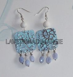earrings with patina