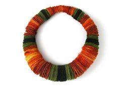 Paper/card roundels  Necklaces Ana Hagopian