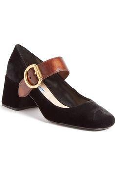 PRADA Leather Mary Jane Pump (Women). #prada #shoes #pumps