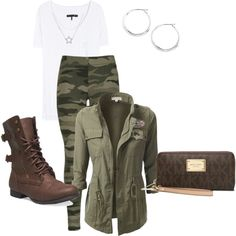 A fashion look from October 2014 featuring rag & bone t-shirts, Wet Seal ankle booties and MICHAEL Michael Kors wallets. Browse and shop related looks.