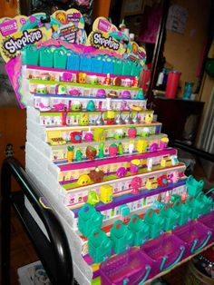 Excellent Toddler Shower Centerpiece Tips Diy-Ing Shopkins Season 3 Display Stand Shopkins Room, Shopkins World, Shopkins Bday, Shopkins Season 8, Shopkins And Shoppies, Playroom Storage, Kids Storage, Rum, 5th Birthday Party Ideas