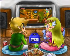 Link and Zelda from The Legend of Zelda