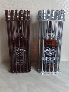 LMart @LMartshop · Dec 8 I make this super souvenir ,surprise your friends or interior detail your bar. It's Jack Daniels bottle prisons.If you want take bottle need to unscrew all the nuts on top. If you want this bottle prison - go my shop Etsy.