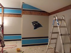 Carolina Panther game room unfolds