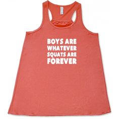 Boys Are Whatever Squats Are Forever Tank Top - Fitness Shirt Womens - Crossfit Shirt Funny