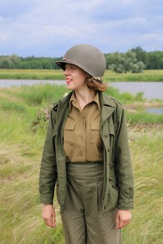 Women's Army Corps Korpus Armijny Kobiet USA Reenactment Wac in Normandy, France, September 1944