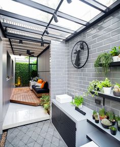 Check out these amazing small backyard and garden design ideas. Laundry Room Design, Home Room Design, Small House Design, Home Interior Design, Dirty Kitchen Design, Outdoor Kitchen Design, Dirty Kitchen Ideas, Outdoor Laundry Rooms, House Extension Design