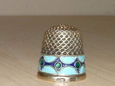 Antique St Petersburg Russian 916 Silver Enamel Thimble RARE | eBay