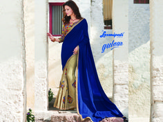 Buy this Exclusive Royal Blue & Chikoo Color Jute & Georgette Saree with Pashmina Multicolour Blouse along with Stone & Patch Work as well as Golden Sequence Lace Border from Laxmipati. Limited stock! 100% Genuine Products! #Catalogue #GULNAR Price - Rs. 2538.00 #GaneshChaturthi #GaneshChaturthi2016 #Ganesh #Monsoon #Shopping #Shoppingday #ShoppingOnline #Fashionstyle #ReadyToWear #OccasionWear #Ethnicwear #FestivalSarees #Fashion#Fashioni
