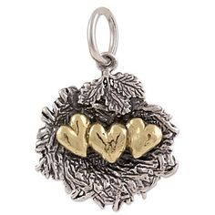 waxing poetic heart charm | Waxing Poetic Love Nest with 3 Hearts #Charm from Borsheims