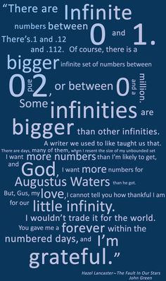 The Fault In Our Stars Poster by SomeInfinities on Etsy,