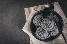 Vegan Black Sesame Ice Cream Black Sesame Ice Cream, Tofu, Oatmeal, Vegan, Breakfast, Sweet, Recipes, The Oatmeal, Morning Coffee