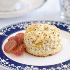 Hanukkah tea - Onion Poppy Seed Scones