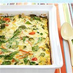 Garden Veggie Egg Bake Recipe from Taste of Home