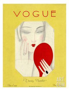 Vogue Cover - November 1925 Regular Giclee Print by Eduardo Garcia Benito at Art.com