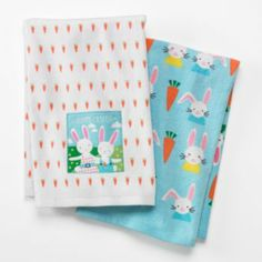 """Blossoms & Blooms """"Hoppy Easter"""" Patch 2-pk. Kitchen Towels"""