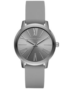 Michael Kors Women's Hartman Grey Silicone Strap Watch 38mm MK2638, A Macy's Exclusive Style