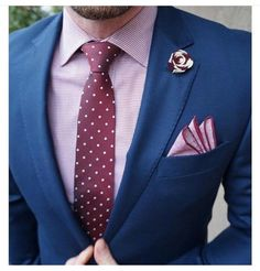 Image result for blue suit pink tie