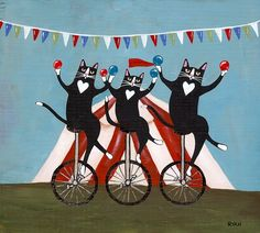 Circus Cats by Ryan