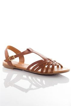 Day Dream Believer Woven Open Toe Sandals - Tan from Breckelles at Lucky 21