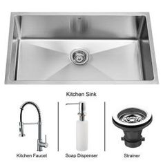 All-in-One Undermount Stainless Steel 32 in. x 19 in. x 10 in. 0-Hole Single Bowl Kitchen Sink-VG15019 at The Home Depot
