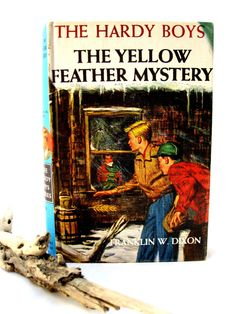 Vintage 50's Hardy Boys Book-Childrens-The Yellow Feather Mystery from Tessiemay on Etsy, $6.00