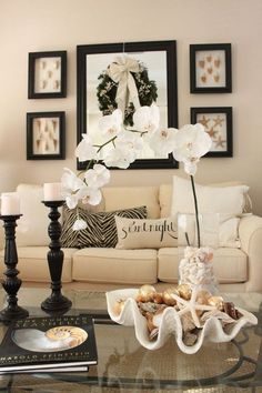 decorating before and after house design room design interior design 2012 Coffee Table Decor Living Room, My Living Room, Home And Living, Living Room Decor, Modern Living, Bedroom Decor, Coastal Living, Cream And Black Living Room, Home Modern