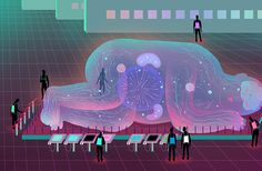 It's Nice That   Illustrator Tianhua Mao has imagined the museum of the future – and it's gelatinous