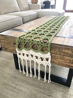 Honey Locust Table Runner Crochet Pattern — Christina Ann Studios Learn the basics of how to crochet Doily Patterns, Crochet Patterns, Crochet Table Runner Pattern, Honey Locust, Crochet Home Decor, Crochet Doilies, Cotton Crochet, Crochet Kitchen, Dining Room Table