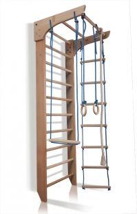 Žebřiny s hrazdou + lanový set. Výška: 240 cm. | | SPORTBABY.CZ