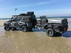 Defender 110 with camping trailer